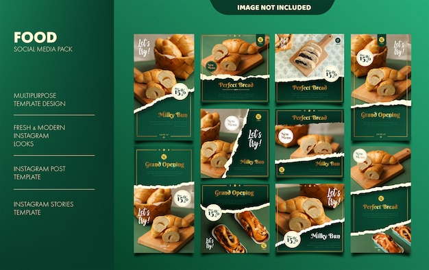 Bakery instagram stories and feed template