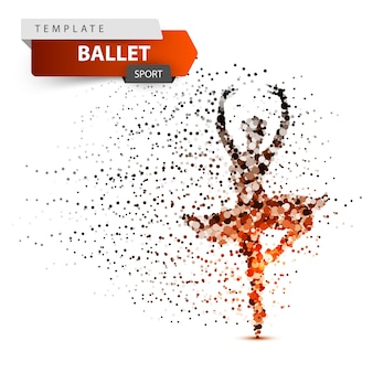 Ballet, deporte, bailarina ilustración