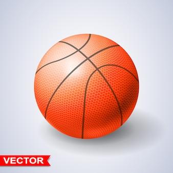 Balón de baloncesto naranja fotorrealista