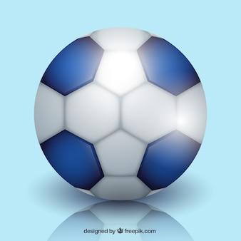 Balón de balonmano en estilo realista