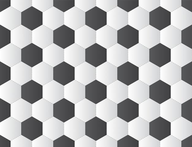 Balón de fútbol blanco y negro de patrones sin fisuras