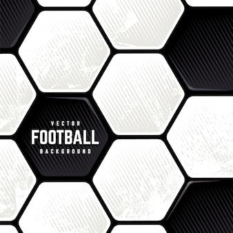 Balón de fútbol europeo tradicional degradado fondo superficial. fondo de grunge de fútbol de vector.