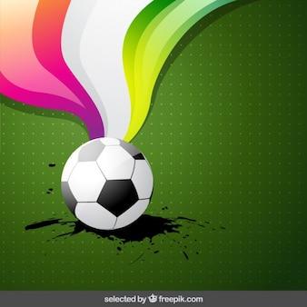Balón de fútbol con el fondo artístico