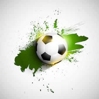 Balón de fútbol / fútbol grunge
