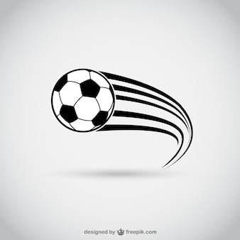 Balón de fútbol en movimiento