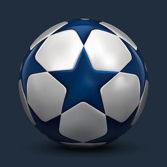 Balón de fútbol. pelota de futbol con estrellas.