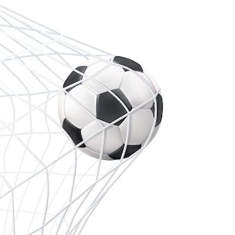 Balón de fútbol en el pictograma de la red