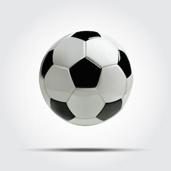 Balón de fútbol realista o balón de fútbol.