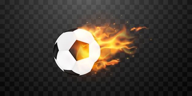 Balón de fútbol soccer en llamas