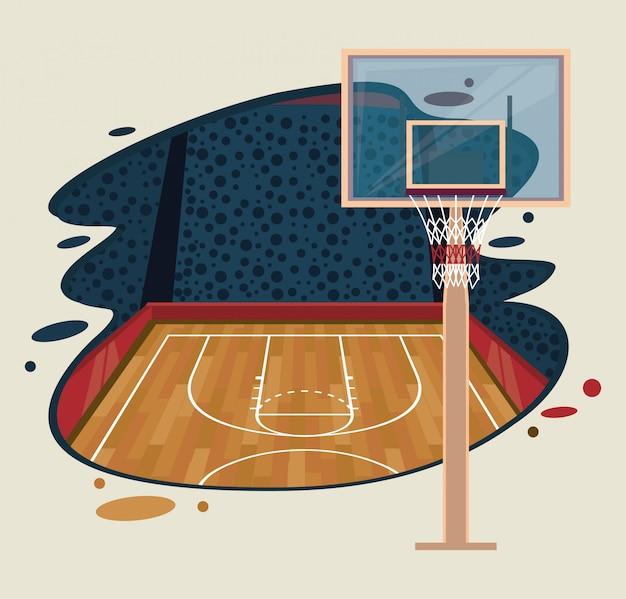 Baloncesto deporte juego escenario