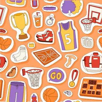 Baloncesto deporte de patrones sin fisuras.