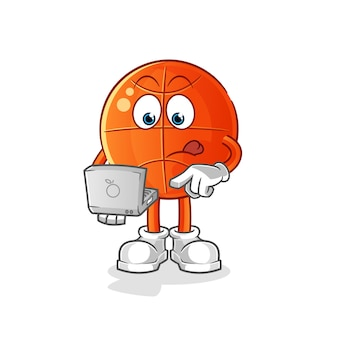 Baloncesto con mascota portátil.