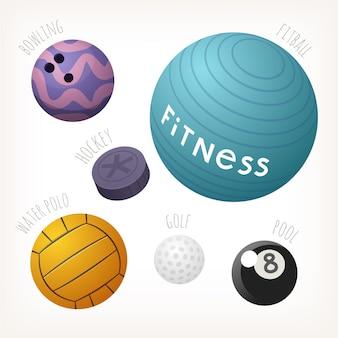 Balones para deportes populares con nombres.