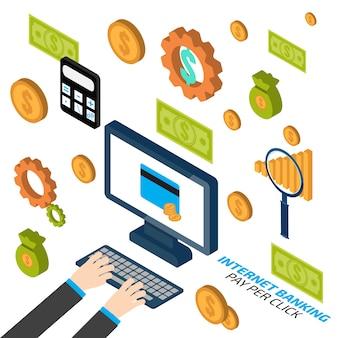 Banca por internet. pago por clic