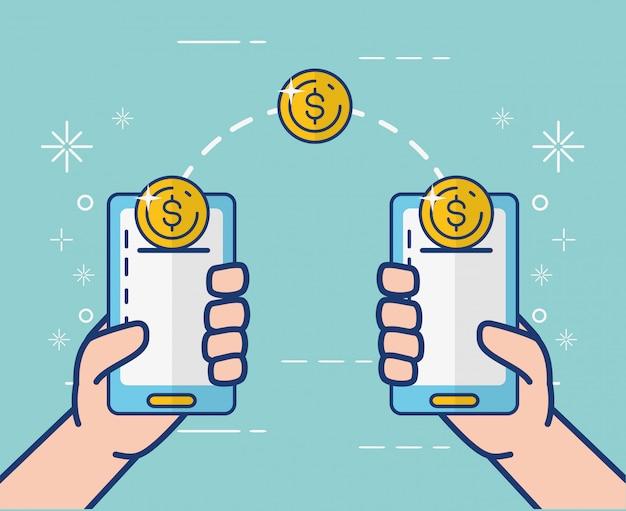 Banca en línea en teléfonos inteligentes