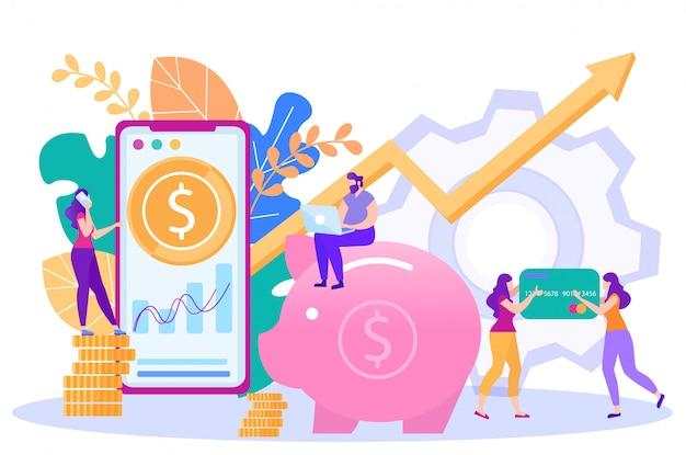 Banca en línea, vector de servicios de pagos por internet