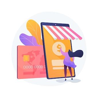 Banca móvil, aplicación de banca electrónica. billetera digital, sistema de pago online, aplicación bancaria. servicios financieros modernos, elemento de diseño de idea de pago electrónico.