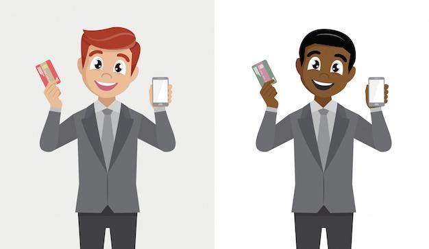 Banca móvil y concepto de pago digital.