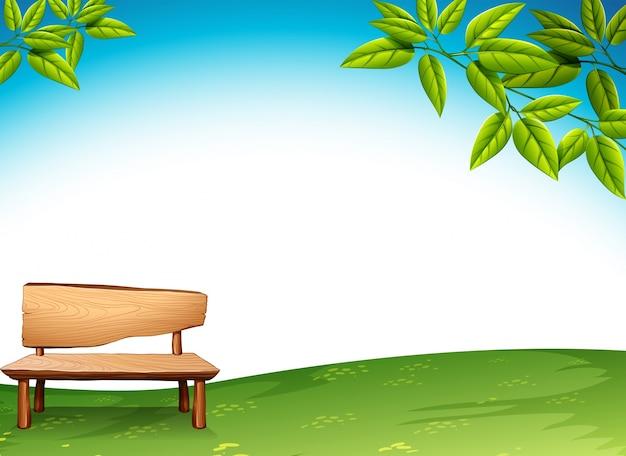 Un banco de madera