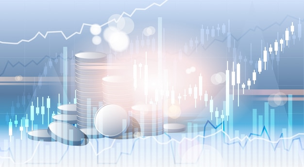 Bancos negocios banner finanzas ahorros resumen silueta ciudad fondo