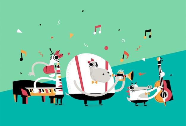 Banda de animales de jazz