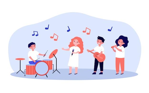 Banda de músicos de la escuela