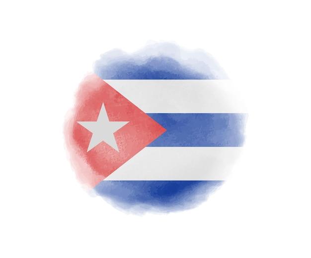 Bandera de acuarela de cuba