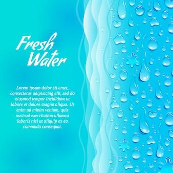 Bandera de agua fresca limpia natural