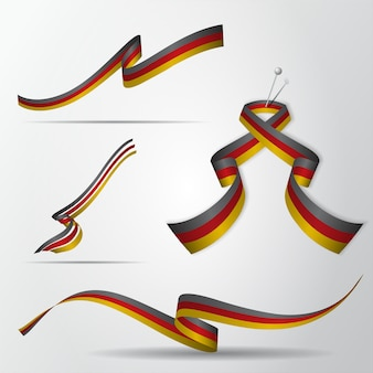 Bandera de alemania. conjunto de cintas alemanas. ilustración vectorial.
