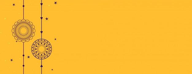 Bandera amarilla de raksha bandhan
