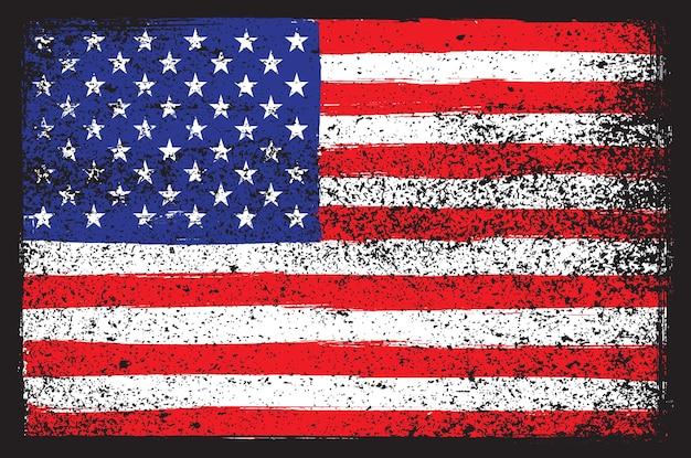 Bandera americana apenada grunge