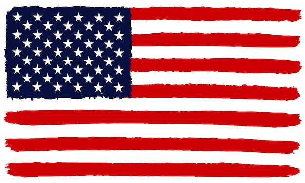 Bandera americana en estilo grunge
