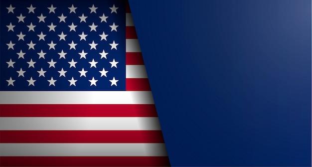 Bandera americana con forma de texto