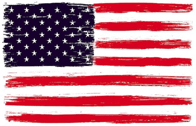 Bandera americana de grunge