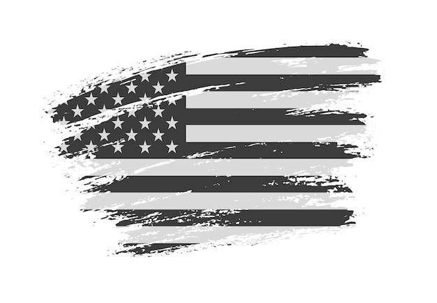 Bandera americana grunge