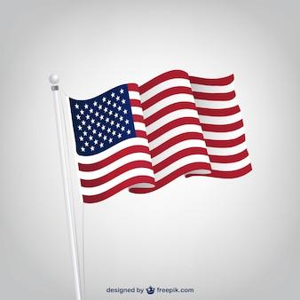 Bandera americana ondulada