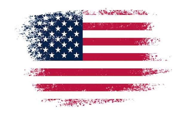 Bandera americana de trazo de pincel