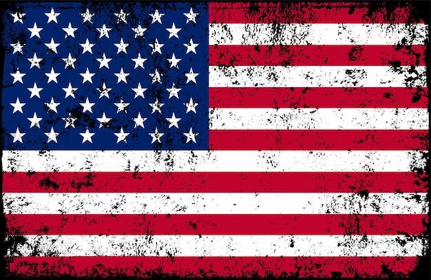 Bandera americana vieja grunge