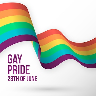 Bandera del arcoíris del día del orgullo
