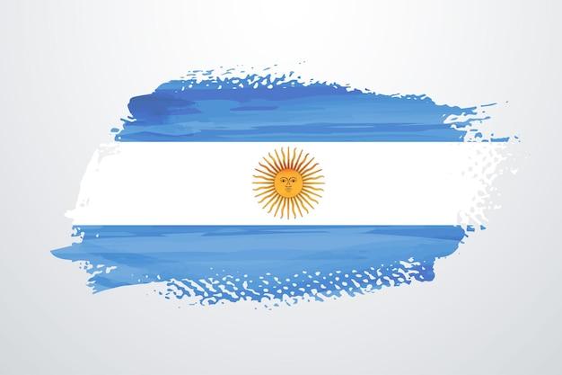 Bandera argentina pincel pintura