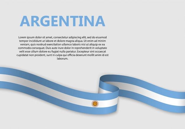 Bandera de argentina que agita