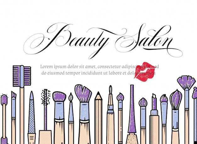 ¿bandera del artista de maquillaje? fondo de salón de belleza