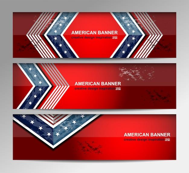 Bandera de la bandera americana para el día de la independencia