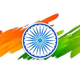 Bandera de la bandera india del día creativo de la república