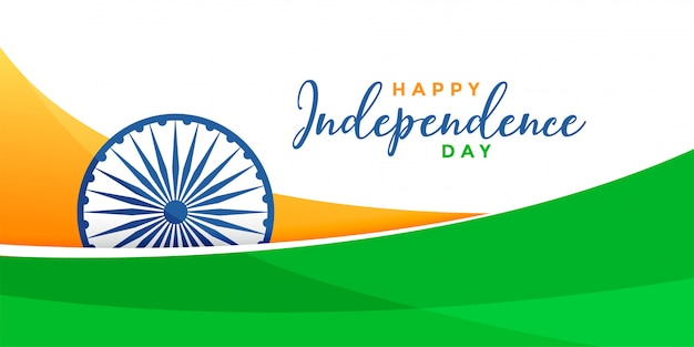 Bandera de bandera india del día de la independencia creativa