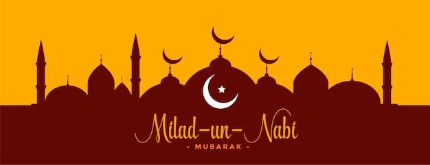 Bandera de barawafat del festival islámico milad un nabi