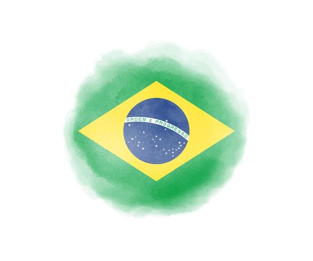 Bandera de brasil acuarela