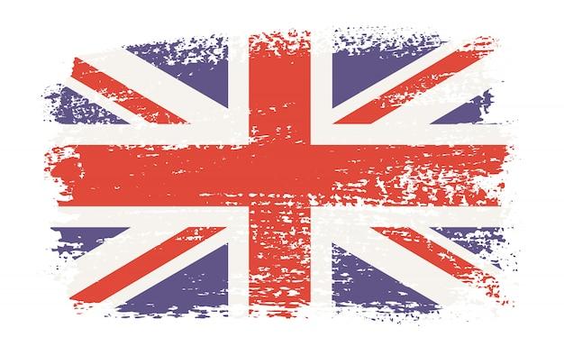 Bandera británica antigua grunge