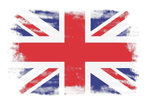 Bandera británica grunge