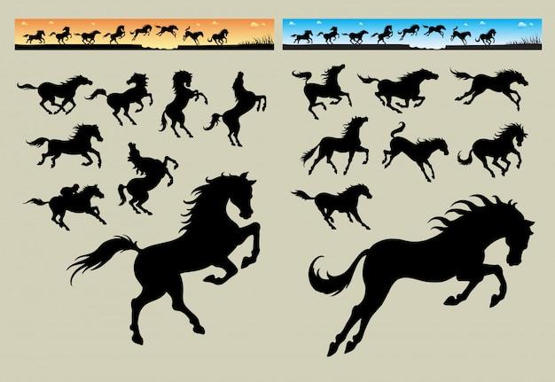 Bandera del caballo corriendo